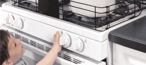 Fornuis babyveilig maken