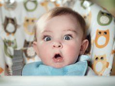 Geschrokken baby