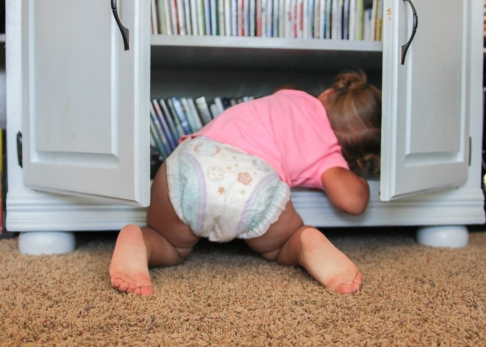 Nieuwsgierige baby
